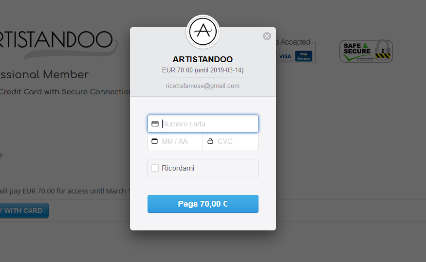 acquista quadro Payment guide page 2 - ARTISTANDOO