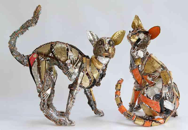 Fare arte con materiali di scarto – I lavori dell'artistaBarbara Franc