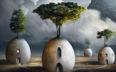 Collage surreali e mondi immaginari