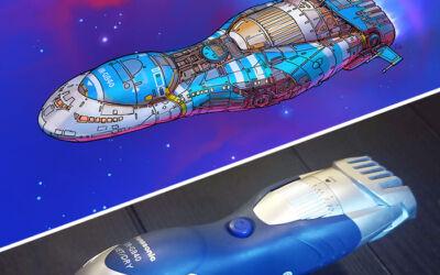 Trasformare oggetti casalinghi in astronavi