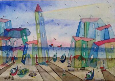 acquista quadro Il Faro Cm 70x50 2 - ARTISTANDOO