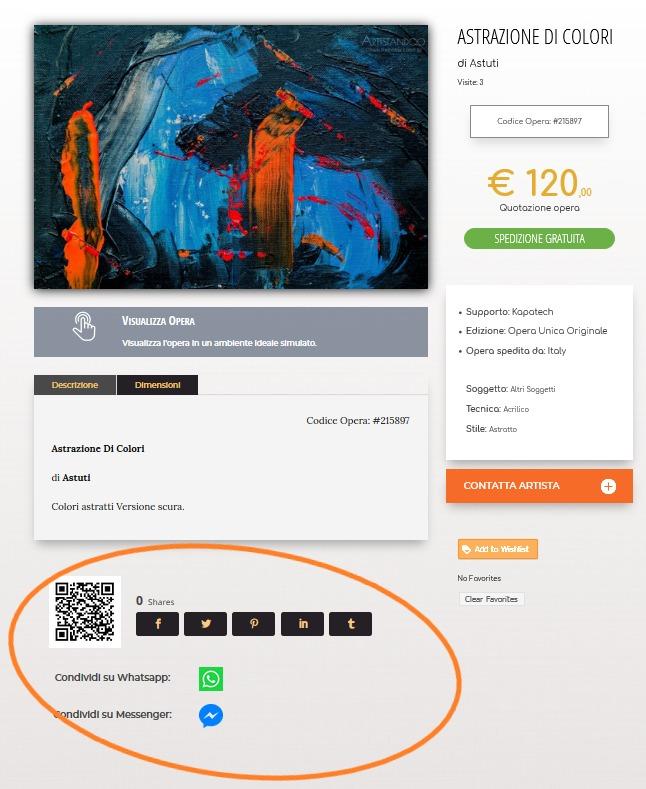 acquista quadro Sezione social 1 - ARTISTANDOO