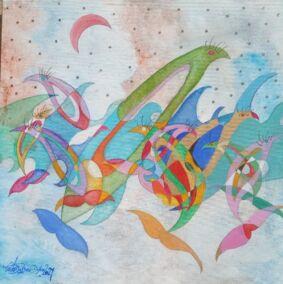 acquista quadro fish girl - ARTISTANDOO