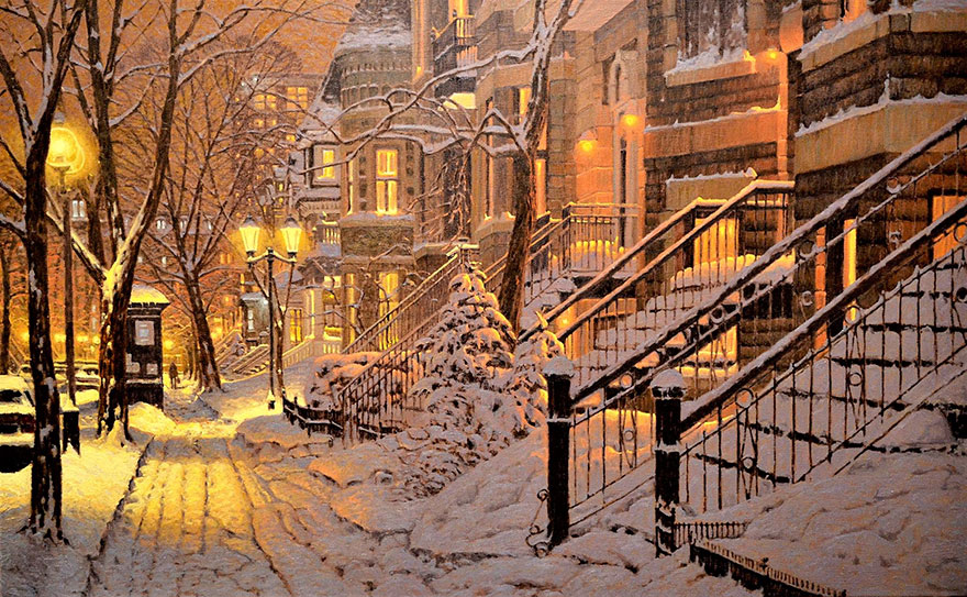 acquista quadro winter paintings richard savoie 111 - ARTISTANDOO