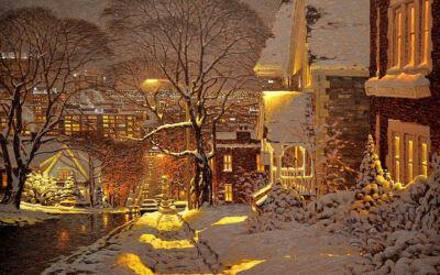 Bellissimi dipinti per le serate invernali più fredde