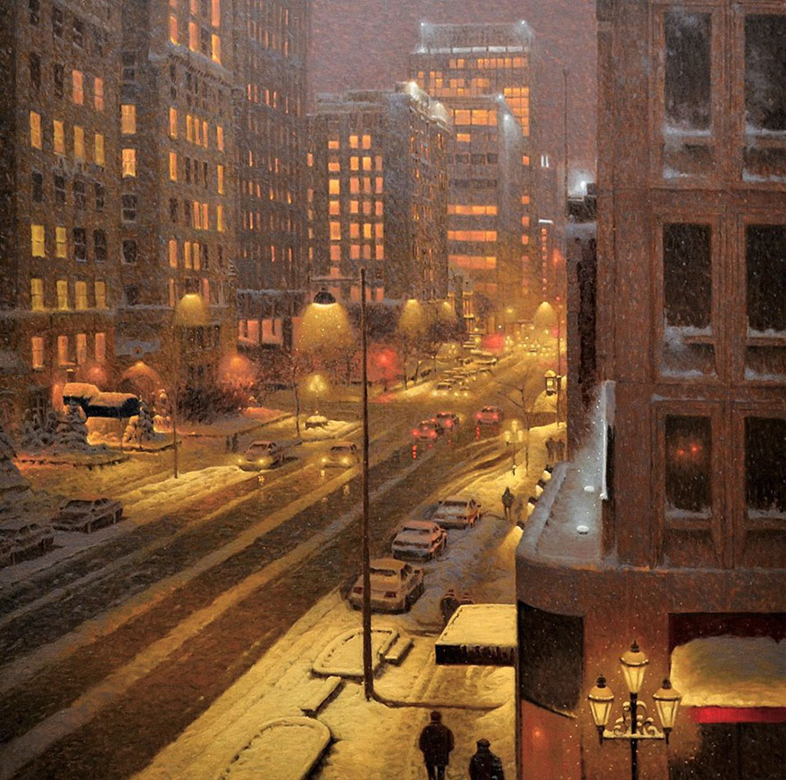 acquista quadro winter paintings richard savoie 81 - ARTISTANDOO
